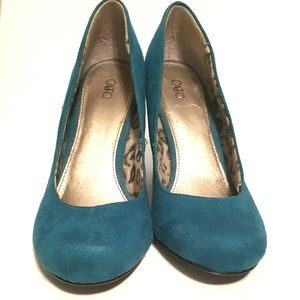 Cato Shoes - Cato- Teal Wedges
